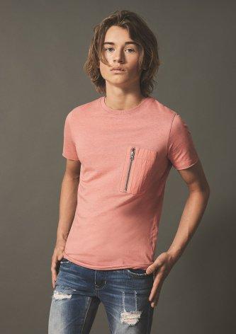 Kortärmad T-shirt, Aprikos, LMTD