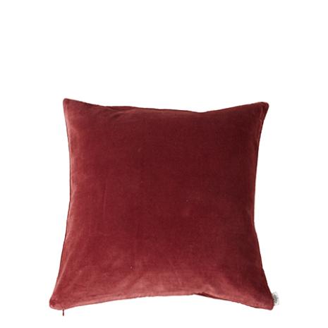 Kuddfodral, Sammet, Röd 50x50 cm