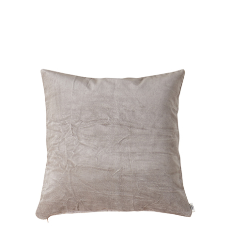 Kuddfodral, Sammet, Ljusgrå 50x50 cm