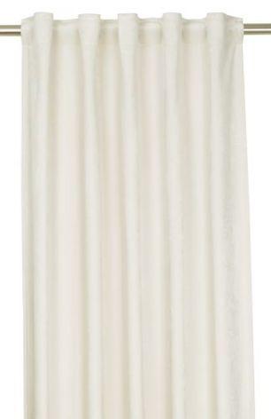 Sammetsgardin, Multibandslängd 280 cm, Offwhite