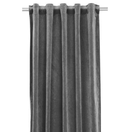 Sammetsgardin, Multibandslängd 280 cm, Grå