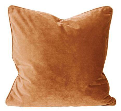 Kuddfodral, Sammet, Rost/Orange 60x60 cm