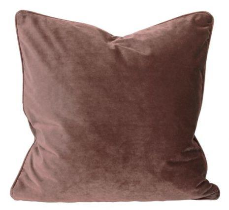 Kuddfodral, Sammet, Rostrosa 60x60 cm