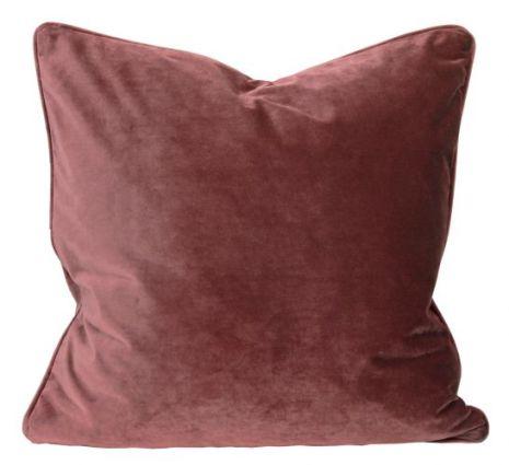 Kuddfodral, Sammet, Vinröd 60x60 cm