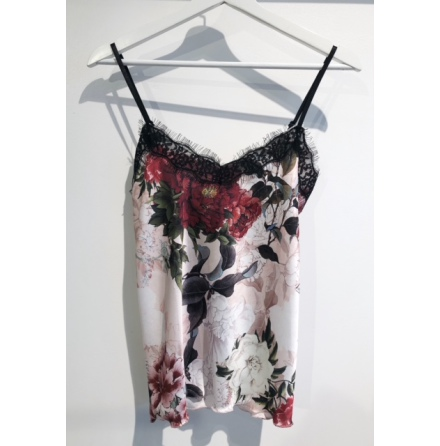 Blommigt linne Rosa