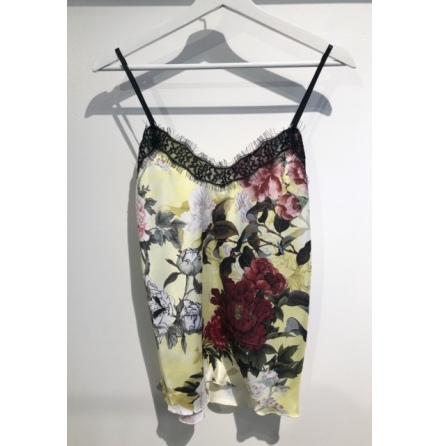 Blommigt linne Gul