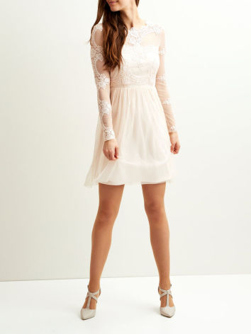 Vigeorgious L/S Dress Peach