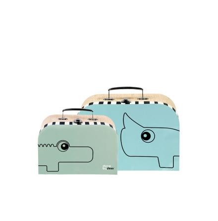Väska, Blå/Grön, Done by Deer