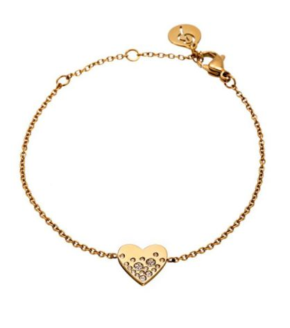 Armband Sparkle Heart, Guld, Edblad