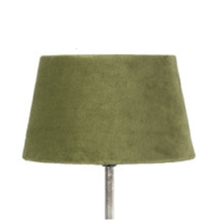 Lampskärm sammet grön liten