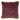 Kuddfodral, Pure, Sammet med fransar, Plommon, 45x45