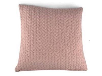 Kudde quiltad rosa 45x45