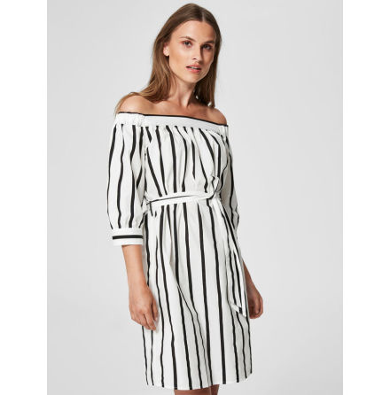 Sfnadine 3/4 Off Shoulder Dress