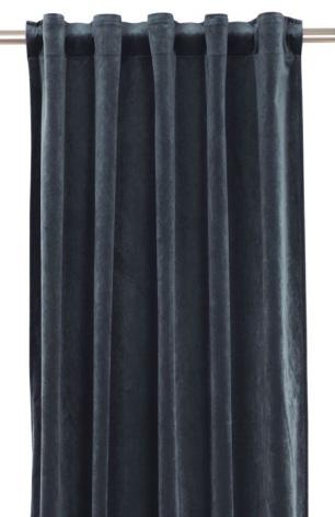 Sammetsgardin 2-pack Multibandslängd 280 cm mellanblå