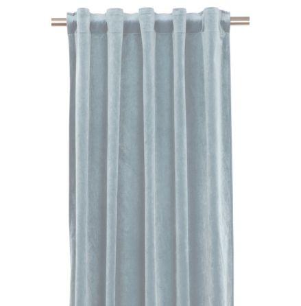 Sammetsgardin 2-pack Multibandslängd 280 cm ljusblå
