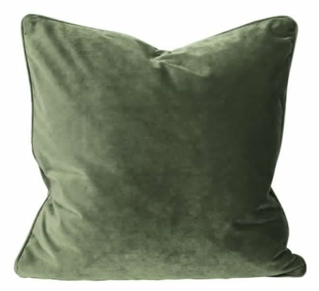 Kuddfodral Sammet 60x60 mörkgrön
