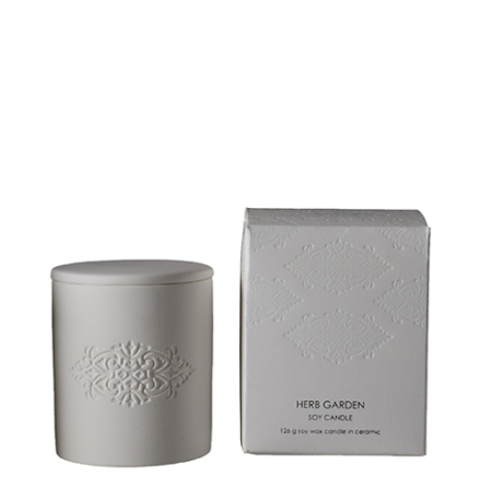 Blanc Scented candle M herb garden 9x10,5 cm