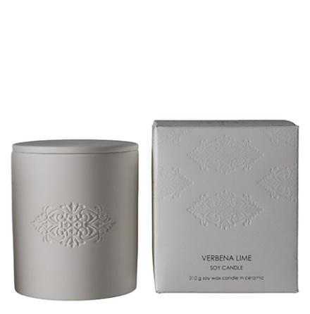 Blanc Scented candle M verbena & Li 9x10,5 cm