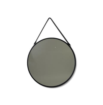 Spegel rund läderrem stor N/A