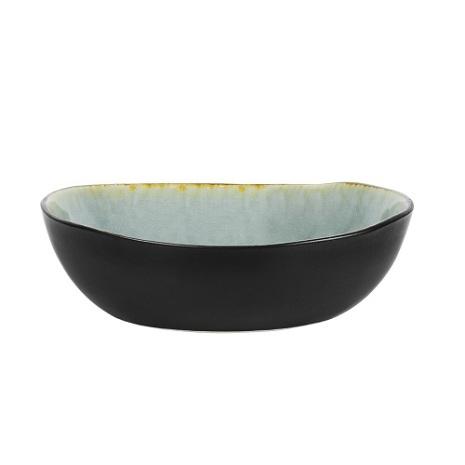Sopp-/pastatallrik grå krackelerad