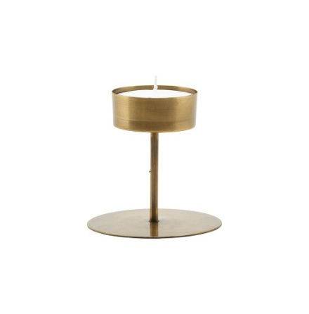 Candle stand Anit antique brass