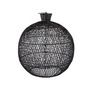 Sebastien Rattan Lamp black