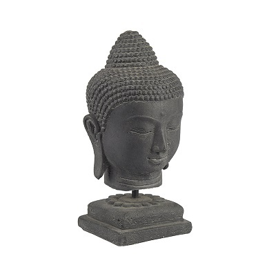 BUDDHA Head black stone