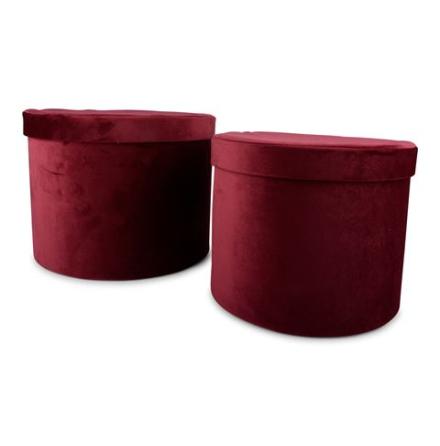 Förvaring rund Softis vinröd Large