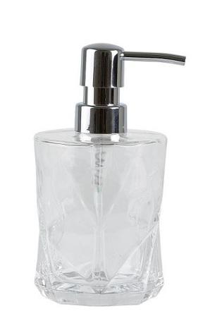 Tvålpump glas klar Dia 8,5 h 10,5