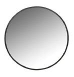 Spegel metall svart dia 60 cm