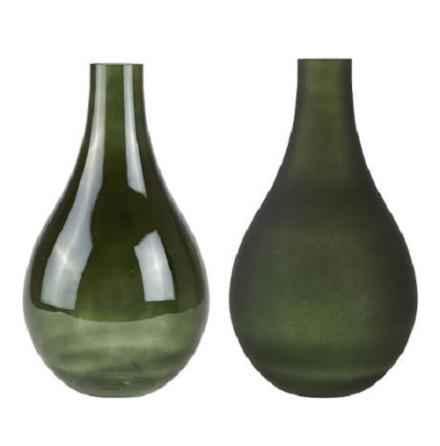 Vas glas grön dia 22,5 h 40,5