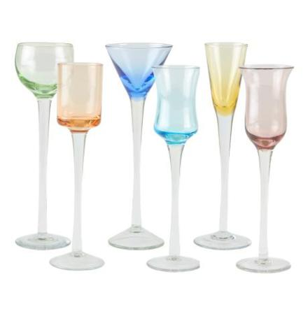 Shotglas - 6-pack - multicolor