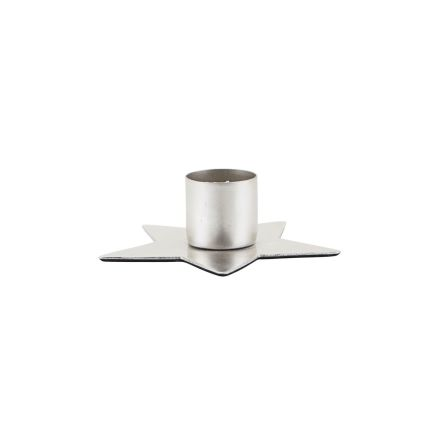 Candle stand Star silv finish