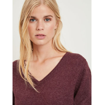 Viril L/S Knit Top Winetasting XS